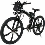 Speedrid Ebike 26/27.5 Electric Bike, Electric Mountain Bike Foldable/Unfoldable with 36V 7.8 Ah/10.4Ah Lithium-ion Battery, Professional 21/24 Speed Gears