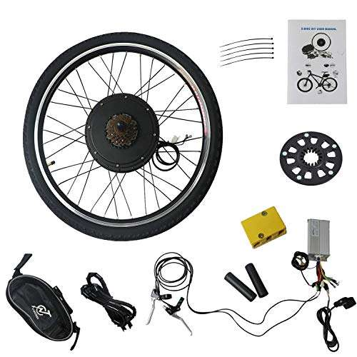 "LLY 26"" Wheel 48V 1000W Electric Battery Powered Bicycle Motor Conversion Kit Electric E-Bike Motor Kit Bike Accessories Set CA-US Warehouse Drop Ship"
