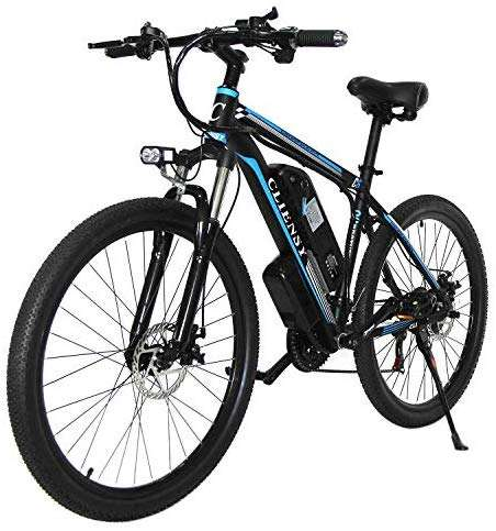 "CLIENSY 26"" Aluminum Electric Mountain Bike, 350W 20Mph E-Bike with Removable 36V 10AH Lithium Battery, 21 Speed Electric Bicycle for Adults"