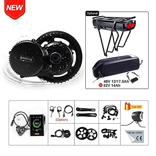 BAFANG BBS02B 48V 750W Ebike Motor Mid Drive Electric Bike Conversion Kit with Battery (Optional)