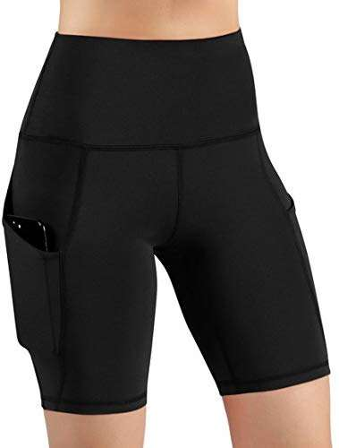 Yoga Pants for Women with Pockets,High Waist Tummy Control Workout Yoga Shorts for Women Running Biker Shorts