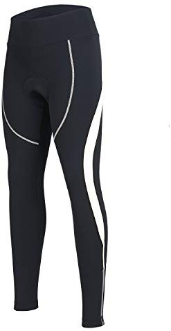 Women's Cycling Pants 3D Padded Compression Tight, Long Bike Bicycle Pants with Wide Waistband