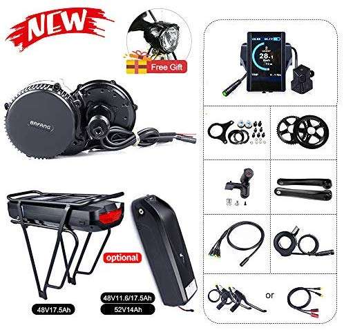 BAFANG BBS02B 48V 750W Mid Drive Electric Bike Motor Ebike Conversion Kit Mid Motor for Mountain Bike Road Bike with Optional 48V 11.6Ah/17.5Ah and 52V 14Ah Battery