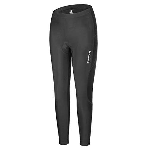 Women Cycling Tights, Qulidyne Women's Bike Pants 3D Padded Compression Tights Breathable & Quick Dry