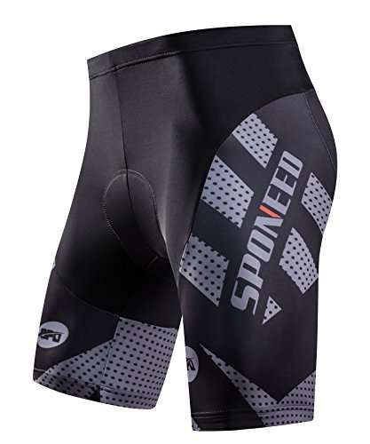 sponeed Men's Cycling Shorts Padded Bicycle Riding Pants Bike Biking Clothes Cycle Wear Tights