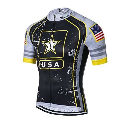 New Pro Full Zipper Men's Cycling Jersey Short Sleeve Riding Shirt USA