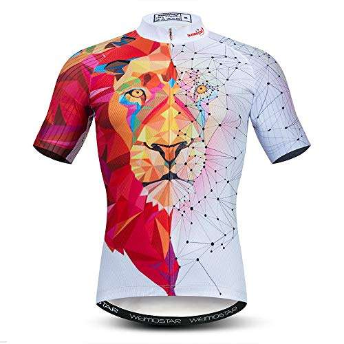 Weimostar Men's Cycling Jersey Short Sleeve Breathable Biking Shirt