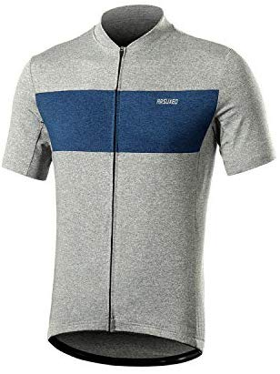 ARSUXEO Men's Elastic Cycling Jersey Short Sleeves MTB Bike Shirt 639