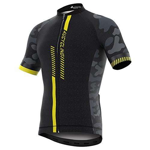 Men's Short/Long Sleeve Cycling Jersey Full Zip Moisture Wicking, Breathable Running Top - Bike Shirt