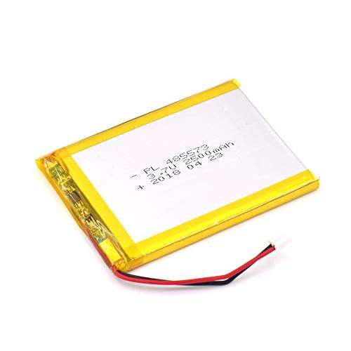 3.7V 2500mAh 485573 Lipo battery Rechargeable Lithium Polymer ion Battery Pack with JST Connector
