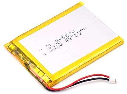 3.7V 2500mAh 505573 Lipo battery Rechargeable Lithium Polymer ion Battery Pack with JST Connector