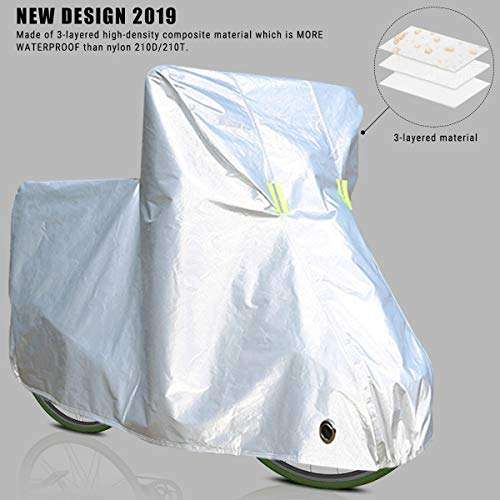 Bicycle Cover with Lock Hole Storage Bag for 29er Mountain Roa IPSXP Bike Cover