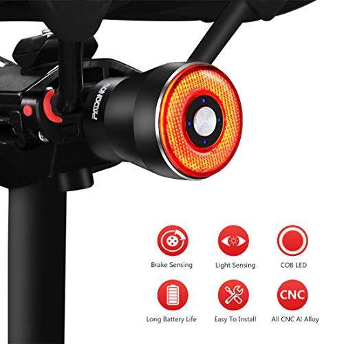 Warning Lamp Bike Tail Light Cycling Ultra Bright Rear Bicycle USB Rechargeable
