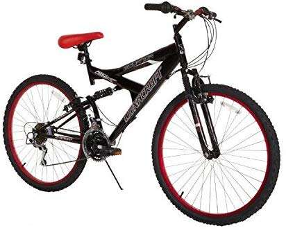Dynacraft Men's 26″ 21 Speed Equator Bike, 18″/One Size, Black/Red BIKE LIGHTS Price: $149.99 - $130.06 (as of Nov 03,2019 15:44:50 UTC – Details) Dual Suspension Frame, equipped with 21 speed Shimano Revo Shifters and Index Derailleur, linear pull brakes and deluxe finish. Deluxe Paint Shimano Derailleur Dual Suspension Includes Alloy Rims Linear Pull Brakes November 3, 2019/0 Comments/by Editorial Team Share this entry