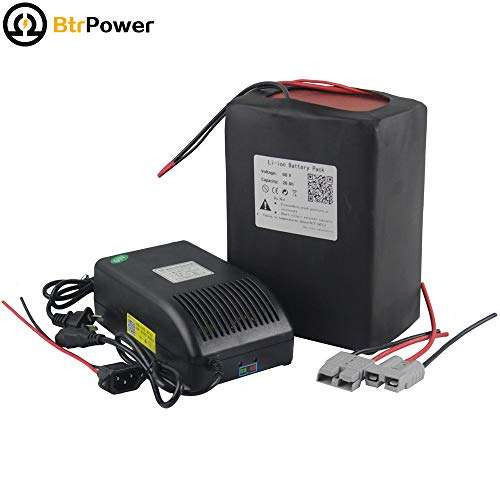 60V 20Ah Ebike Battery Li-ion Battery Pack with 5A Charger + 50A BMS for 1200W Electric Bicycle Scooter Motor …