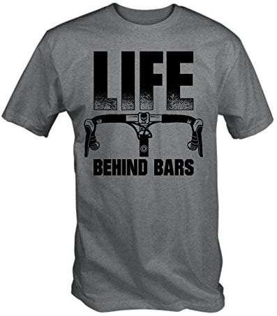 6TN Mens Life Behind Bars Funny Cycling T Shirt