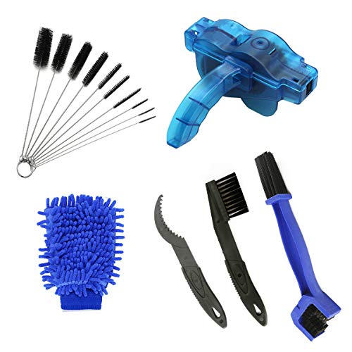 AHCSMRE Bike Chain Cleaning Brush Kit Bicycle Maintenance Washing Tool Suitable for Mountain, Road, City, Hybrid,BMX Bike and Folding Bike