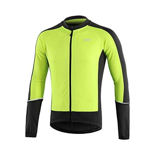 ARSUXEO Men's Basic Cycling Jersey Long Sleeves MTB Bike Bicycle Shirt 6033