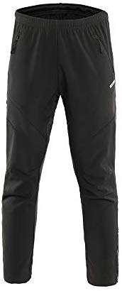 ARSUXEO Men's Winter Warm Up Thermal Fleece Running Bike Cycling Pants Multi Sports Windproof 18Z