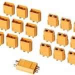 AUTOUTLET 20PCS 10Pairs XT60 Bullet Connectors Plugs Male & Female For RC Car/Boat/LiPo Battery
