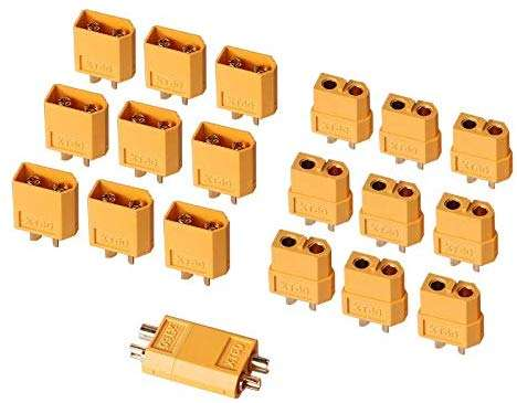 AUTOUTLET 20PCS 10Pairs XT60 Bullet Connectors Plugs Male & Female For RC Car/Boat/LiPo Battery