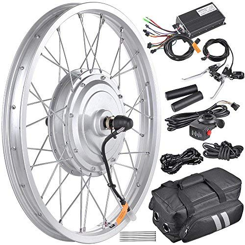 """AW 16.5"""" Electric Bicycle Front Wheel Frame Kit for 20"""" 36V 750W 1.95""""-2.5"""" Tire E-Bike"""