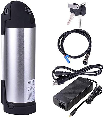 AW 36V 10AH Li-ion Rechargeable Battery Water Bottle Type w/Holder Charger For 36V 250W Electric Bicycle