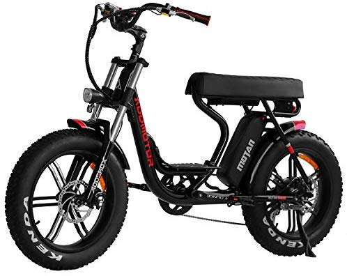 Addmotor MOTAN Adult Electric Bicycles 20 inch Fat Tire 750W Motor Removable 11.6Ah Lithium Battery Throttle Pedal Assist Step-Thru M-66 R7 City Ebikes