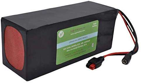 Aegis Battery 36V 10Ah Rechargeable High-Energy Li-ion Battery (PVC) with BMS System for e-Scooters, e-Bikes, Solar Applications, Robots