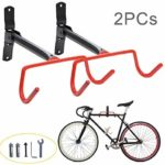 Aonepro Wall Mount Bike Hanger, 2pcs Storage Rack for Holding Bicycle at Home & Garage Indoor, Space Saving Folding Desiged On Wall Holder, Heavy Duty Upto 66lbs Capacity Loading