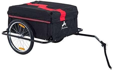 Aosom Elite II Bike Cargo / Luggage Trailer - Red / Black