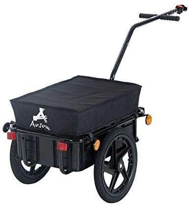Aosom Enclosed Bicycle Cargo Trailer, Black