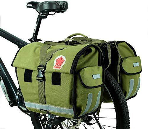 ArcEnCiel Bike Bag Bicycle Panniers Water-Resistant Large Capacity Rack Trunks Rear Seat Carrier Pack - Rain Cover Included