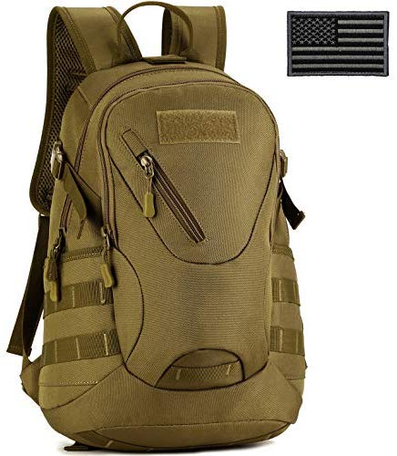 ArcEnCiel Motorcycle Backpack Tactical Military Bag Army Assault Pack with Patch