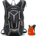 Arvano Mountain Bike Backpack Cycling Backpack - 18L Breathable Biking Backpack Lightweight Ski Rucksack with Rain Cover, Bicycle Backpack for Running Riding Skiing Fits Men Women [ Upgraded 2019 ]