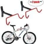 Auwey Bike Wall Mount Rack Storage Hanger Foldable Bicycle Holder Hook Bicycle Bike Rack Storage