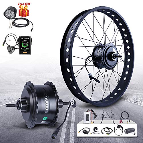 "BAFAGN 48V 750W Hub Rea Wheel Motor Ebike Conversion Kit for 20"" 26"" Rear Wheel Brushless Hub Motor Fat Tire Electric Bicycle Conversion Kit with LCD Display"