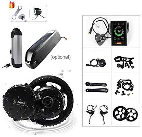 BAFANG 36V 500W BBS02B E-Bike Conversion Motor Kit DIY Electric Bike Kit with Battery and Charger