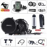 BAFANG 8FUN BBS01B 36V 250W Mid Drive Motor Conversion Kit for Road Bike Mountain Bike Mid Drive System with LCD Display, Optional 36V 10Ah/17.5Ah Battery with Charger