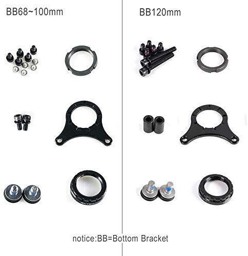 BAFANG BBS/BBSHD Motor Mount Bolt and Spacer Installation Locknut Mid Motor Mounting Accessary Assembling Parts Electric Bike Installing Parts