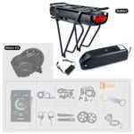 BAFANG BBSHD 1000W 48V Ebike Motor with LCD Display 8fun Mid Drive Electric Bike Conversion Kits with Battery (Optional)