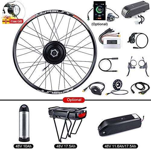 "BAFANG Bike Conversion Kit 48V 500W Rear Hub Motor for Bicycle 20"" 26"" 27.5"" 700C Rear Wheel Kit with PAS LCD Display Ebike Battery and Charger"