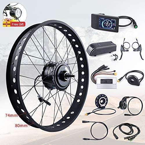 "BAFANG RM G060.750.DC 48V 750W Brushless Gear Drive Cassette Ebike Rear Motor Hub Wheel Disc Brake 20""/26"" Installation Widths 175MM for Fat Bike"