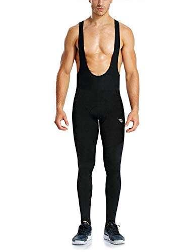BALEAF Men's Padded Thermal Stirrup Cycling Bib Pants