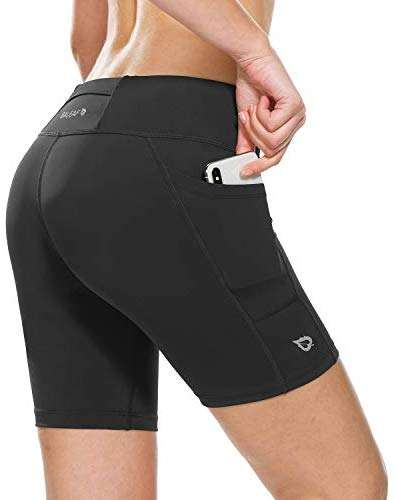 BALEAF Women's 7 Inches Compression Running Shorts Spandex Workout Shorts Pocket