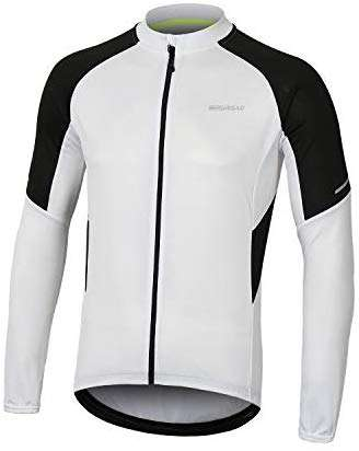 BERGRISAR Men's Basic Cycling Jerseys Long Sleeves Bike Bicycle Shirt Zipper Pockets BG012