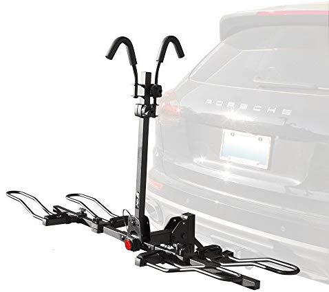 BV Bike Bicycle Hitch Mount Rack Carrier for Car Truck SUV - Tray Style Smart Tilting Design