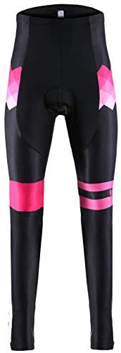 Balnna Men's and Women's 4D Gel Thermal Fleece Athletic Running Cycling Tights
