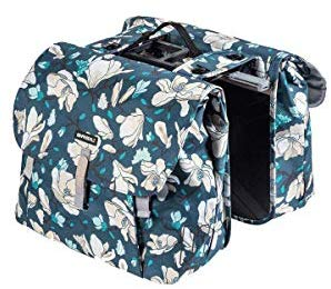 Basil Magnolia Double Bag MIK - Double Bicycle Pannier - Blue - 17786