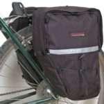 Bushwhacker® Moab Black - Bicycle Rear / Front Pannier Cycling Rack Pack Bike Bag - w/ Reflective Trim - Sold as Pair